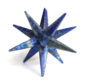 Lapis Lazuli Large Crystal Twelve Point Merkaba Star - Krystal Gifts UK