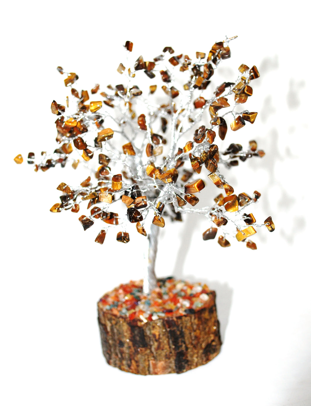 New! Tigers Eye Natural Crystal Stone Gemstone Tree