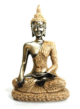 Load image into Gallery viewer, Gold Sitting Buddha Figure Statue Sandstone 100g