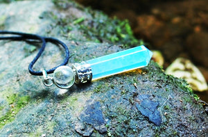 Opalite Pendant Inc Clear Quartz & Cord Necklace Gift Wrapped
