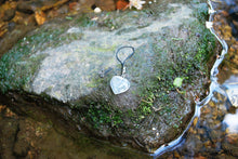 Load image into Gallery viewer, Clear Quartz Crystal Heart Mobile / Key / Bag Charm