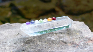 Clear Quartz Terminated Crystal Healing Point with Chakra Gem Stones