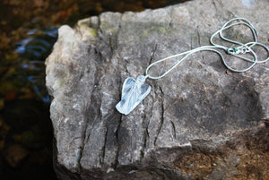Natural Clear Quartz Angel Pendant Necklace Inc Silver Snake Chain