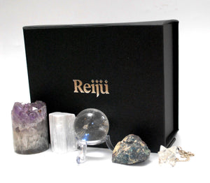 New Special Offer!  Natural Crystals For Meditation Boxed Gift Set