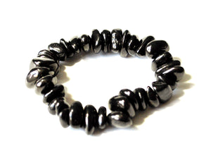 New! Shungite Natural 'Protection' Chunky Crystal Stone Bracelet