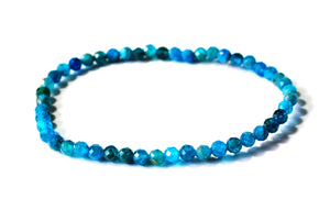 New! Natural Apatite Polished Crystal Stone Faceted Bracelet