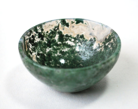 Moss Agate Crystal  Bowl (5cm) - Krystal Gifts UK