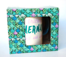 Load image into Gallery viewer, Clearance Sale! 'Mermaid' Mug And 'You Are Beautiful' Hanging Sign Gift Set