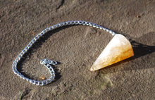 Load image into Gallery viewer, Citrine Natural Faceted Dowsing Pendulum Piece