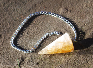Citrine Natural Faceted Dowsing Pendulum Piece