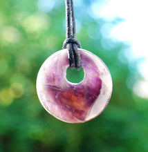 Load image into Gallery viewer, Amethyst Natural Ring Donut Pendant Necklace