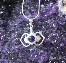 Load image into Gallery viewer, Amethyst Third Eye Chakra 925 Silver Pendant & Silver Chain