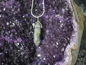 Labradorite Polished Faceted Natural Stone Pendant Necklace & Chain