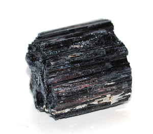 Natural Black Tourmaline Crystal Raw Chunk Stone Piece