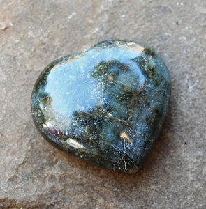 Large Labradorite Natural Crystal Unique Stone Heart Fully Polished
