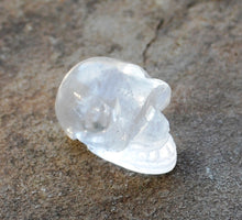 Load image into Gallery viewer, Clear Quartz Crystal Stone Natural & Unique  Hand Crafted Polished Skull Alien
