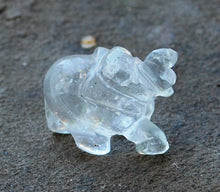 Load image into Gallery viewer, Natural Clear Quartz Crystal Stone Hand Crafted Elephant Figure