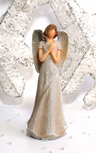 15 cm White Glitter Guardian Angel Statue (Figure 2)