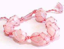 Load image into Gallery viewer, Rose Quartz Natural Pink Crystal Tumble Stone Bracelet Gift