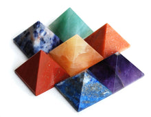 Load image into Gallery viewer, Chakra Pyramid Set In Angel Wings Dish