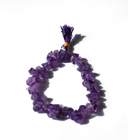 Amethyst Crystal Stone Chips Power Bracelet Gift - Krystal Gifts UK