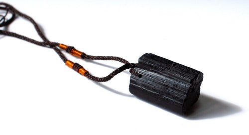 Raw Black Tourmaline Crystal Stone Pendant Gift Jewellery - Krystal Gifts UK