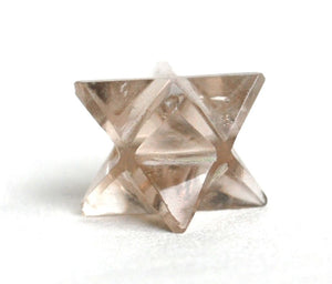 Natural Smoky Quartz Crystal Stone Hand Cut & Polished Merkaba Star