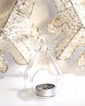 Load image into Gallery viewer, Angel Holding Heart Tealight Holder Glass Vase Decorative Gift