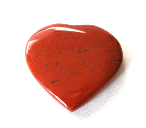 Red Jasper Natural Crystal Stone Heart