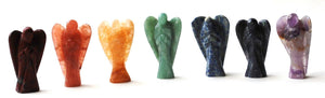 Chakra Angel Set Of 7 Hand Carved Crystals - Beautifully Gift Wrapped - Krystal Gifts UK