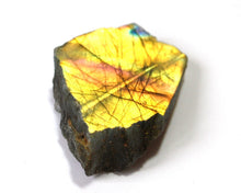 Load image into Gallery viewer, Raw Labradorite Crystal Slice Stone Gift Wrapped Piece - Krystal Gifts UK