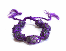 Load image into Gallery viewer, Amethyst Crystal Stone Netted Tumble Stone Bracelet
