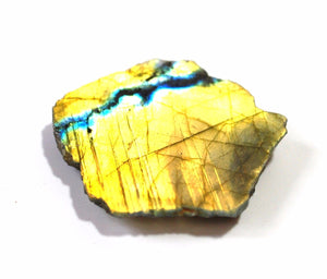 Raw Labradorite Crystal Slice Stone Gift Wrapped Piece - Krystal Gifts UK