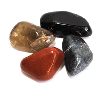 Load image into Gallery viewer, Base / Root Chakra Crystal Tumble Stone Healing Set (Beautifully Gift Wrapped)