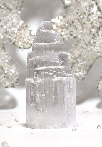 Large Natural & Unique Selenite Crystal Tower