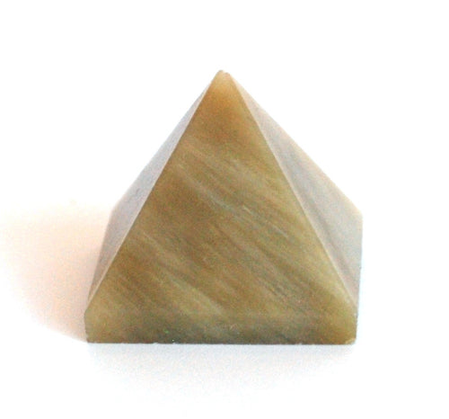 **CLEARANCE SALE WAS £6.99 - NOW £4.99!**  Chrysoberyl Crystal Stone Pyramid Crown Chakra - Krystal Gifts UK