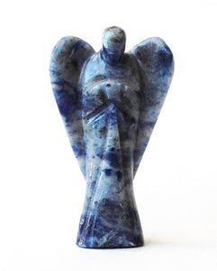 Sodalite Crystal Hand Carved Stone Angel - Krystal Gifts UK