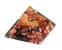 Load image into Gallery viewer, Natural Rhodonite Large Orgone Crystal Pyramid