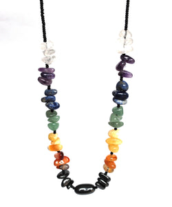 New! Chakra New Crystal Necklace Including Seven Types