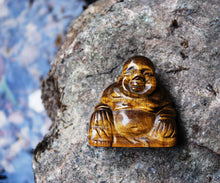 Load image into Gallery viewer, New! Tigers Eye Hand Crafted Crystal Polished Stone Buddha Figure 86g