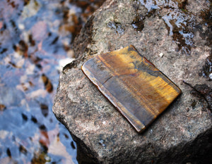 Tigers Eye Natural Crystal Stone Polished Slice Piece