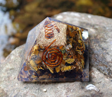 Load image into Gallery viewer, Natural Tigers Eye Large Crystal Orgone Pyramid