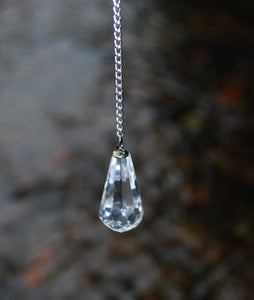 New! Natural High Quality Clear Quartz Dowsing Pendulum