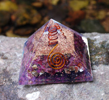 Load image into Gallery viewer, Natural Ruby Large Orgone Orgonite Crystal Pyramid