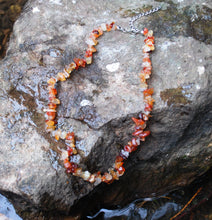 Load image into Gallery viewer, New! Carnelian Natural Crystal Stones Extendable Necklace