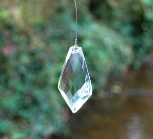 Feng Shui Hanging Crystal Prism Reflects Colours Of The Rainbow