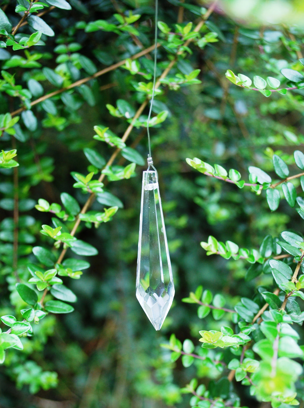Long Feng Shui Hanging Prism Crystal Reflects Rainbow Sun Catcher
