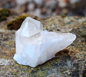 "Natural Clear Quartz Crystal Stone ""Master Healer"" Cluster Piece 40g approx"