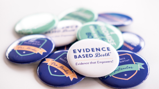 Evidence Based Birth® Buttons