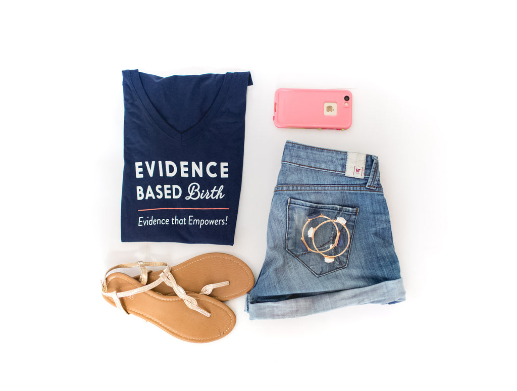 Evidence Based Birth V-neck T-shirt